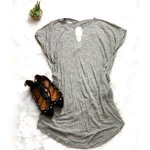JET John Eshaya Short Sleeve Striped Tunic Dress